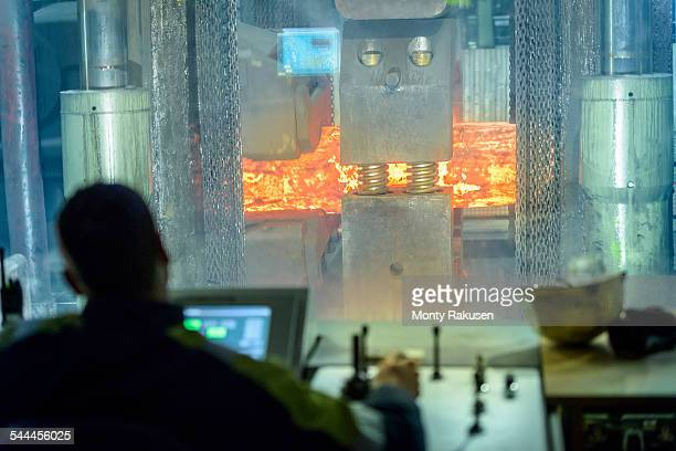 View from control room of 4,500 tonne press forge