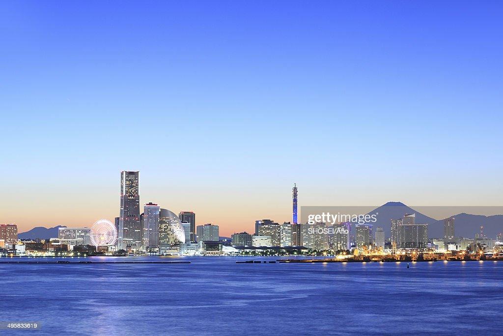 View from Daikoku Bridge in Yokohama, Kanagawa Prefecture, Japan