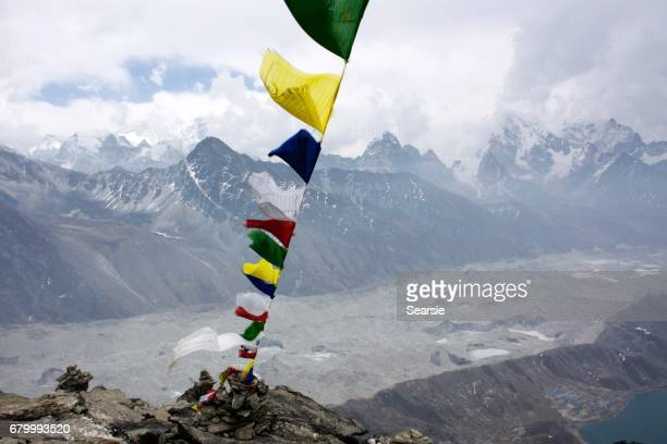 View from Gokio Ri with prayer flag