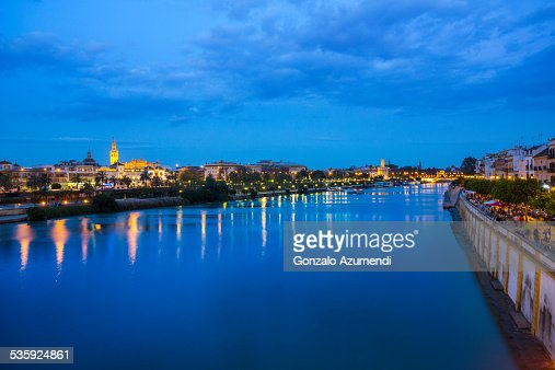 View from Guadalquivir river : Stock Photo