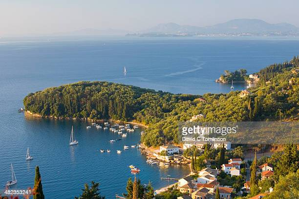 View from hillside, Kalami, Corfu, Greece