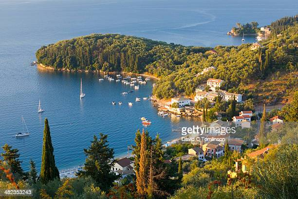 View from hillside, Kalami, Corfu, Greece