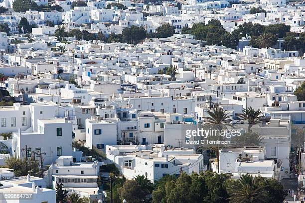 View from hillside, Mykonos Town, Mykonos