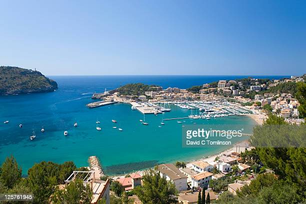View from hillside, Port de Soller, Mallorca