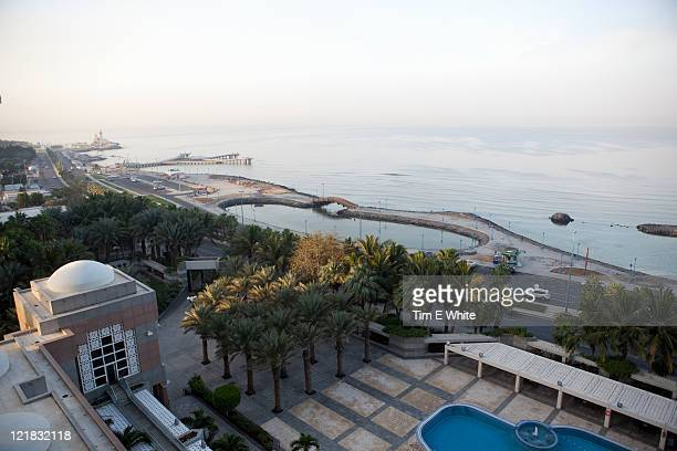 View from Hilton Hotel, North Corniche at sunset, Jeddah, Saudi Arabia, Middle east