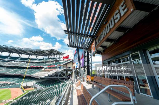 View From Home Depot Clubhouse Before Game Against The Toronto Blue Jays At SunTrust Park On