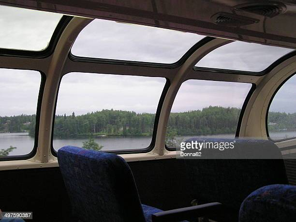 View from Inside a Train Dome Car