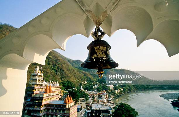 RISHIKESH UTTARANCHAL INDIA View from Kailashanand Mission in Laksman Jhula