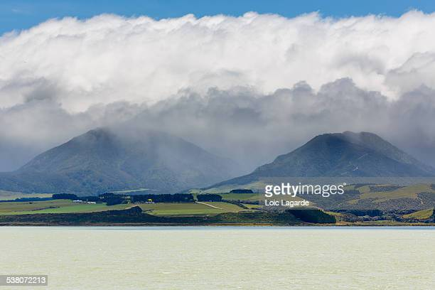 View from Lake Ferry in New Zealand