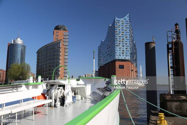 view from Lower Harbour on Elbphilharmonie