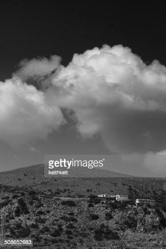 view from malia crete : Stock Photo