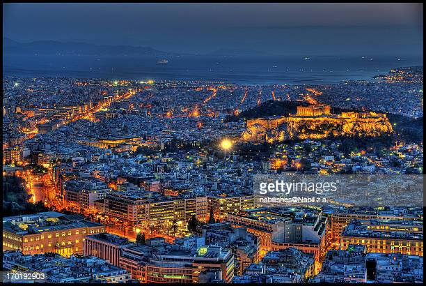 View from Mount Lycabettus,Athens