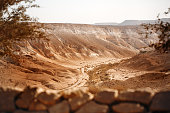 View from Mountain on Negev Desert. Israel Tourism. Great for Touristical Text.