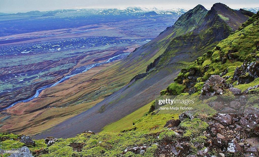 View from Mt. Þríhyrningur : Stock Photo