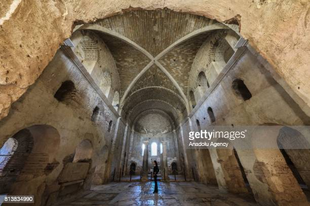 A view from Myra St Nicholas Church in Antalya Turkey on April 05 2017 Antalya has been a cause of attraction to different civilizations from the...