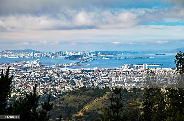 View from Oakland Hills over San Francisco Bay