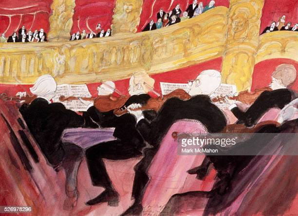 View from Orchestra Pit Concert at Paris Opera House by Franklin McMahon