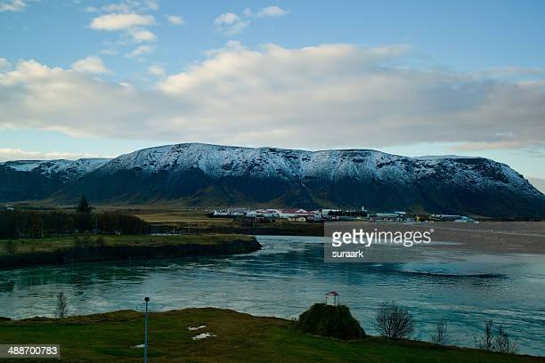 View from our hotel room in Selfoss, Iceland.