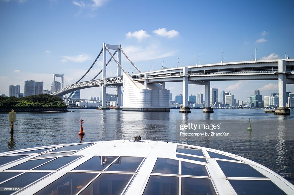 View from outside cruise over Tokyo bay