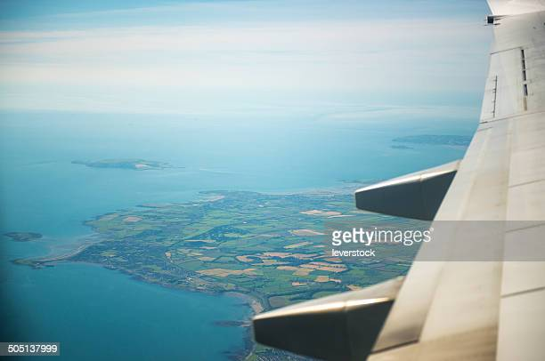 view from plane of Ireland
