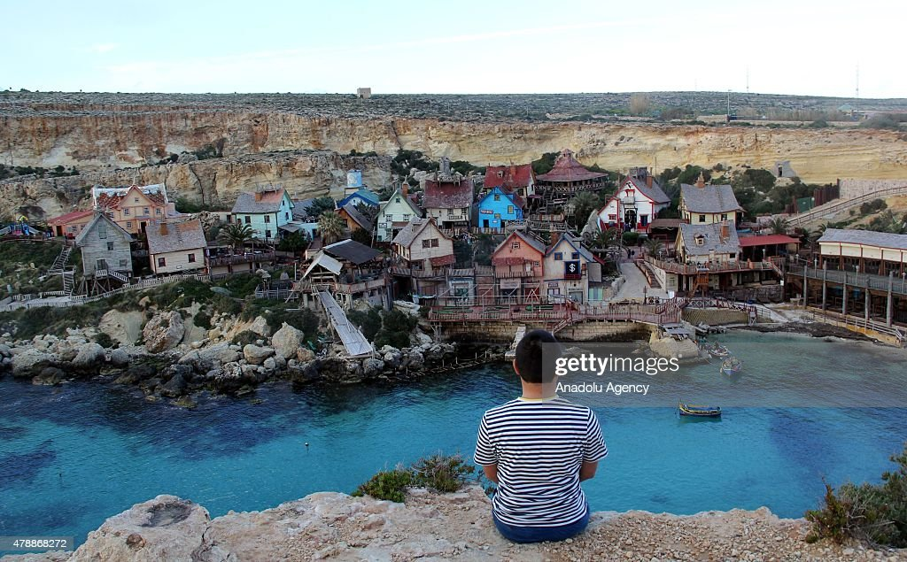 A view from Popeye Village, built by director Robert Altman for the movie 'Popeye - The sailor' in 1979, is seen in Mellieha, Malta on June 28, 2015. The village is open for visitors.