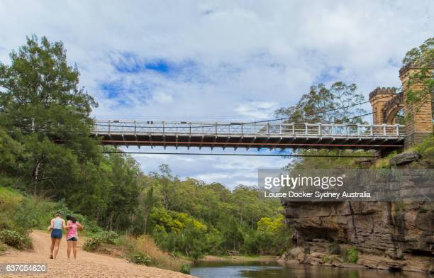 View from river below the Hampden Bridge ,Kangaroo Valley