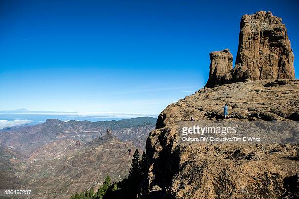 View from Roque Nublo Highlands, Gran Caneria, Canary Islands, Spain