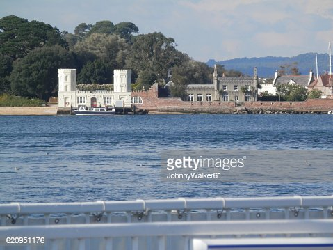 View from Sandbank Ferry, Poole Dorset : Stock Photo
