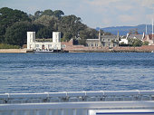 View of coastline from Sandbank Ferry, Poole Dorset