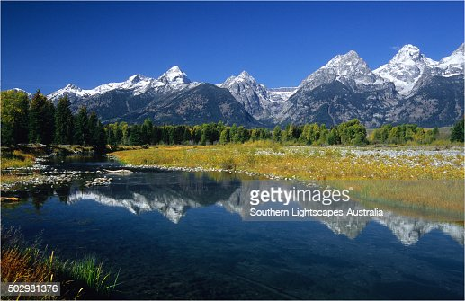 View from Schwarbacher's Landing, Grand Teton National Park, Wyoming, USA