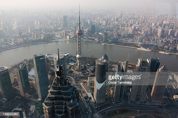 View from Shanghai World Financial Centre