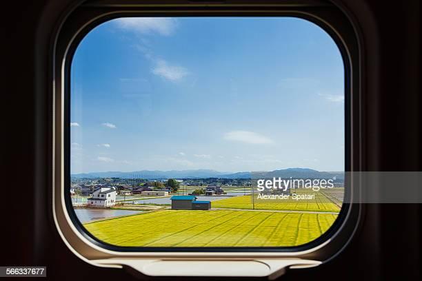 View from shinkansen train window