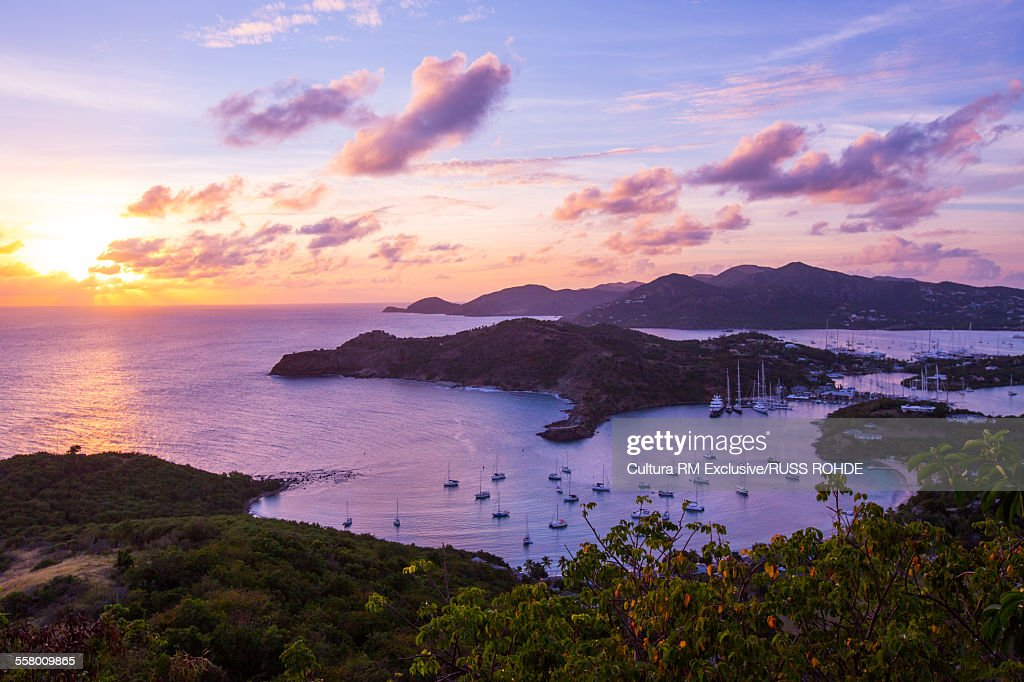 View from Shirley Heights over English Harbour, Antigua, West Indies