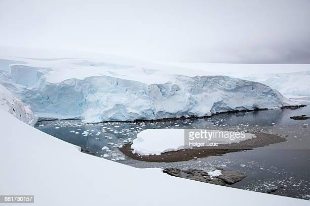 View from snow bridge to glacier