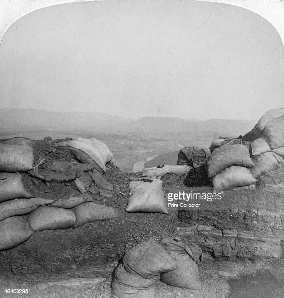 View from Spion Kop South Africa 2nd Boer War 1901 'Scene of Buller's terrific battles Tugela River and Zwartz Kop from Spion Kop Looking southeast'...