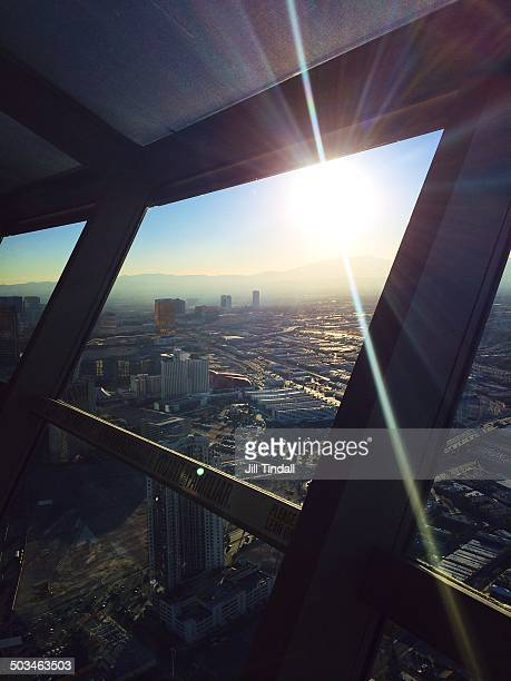 View from Stratosphere Tower observation deck Las Vegas Nevada