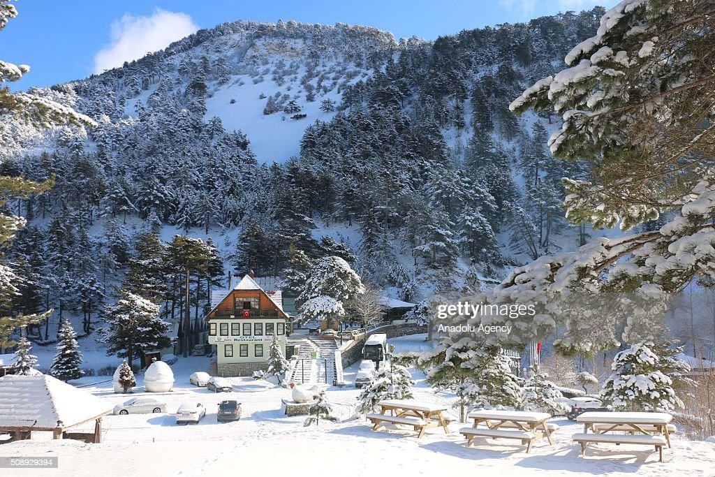 A view from Sunnet Lake Natural Park during winter season in Bolu province of Turkey on February 7, 2016.
