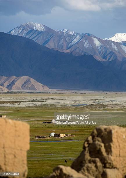View from Tashkurgan fort Tashkurgan Xinjiang Uyghur Autonomous Region China on September 21 2012 in Tashkurgan China
