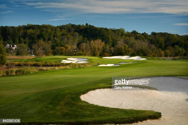 A view from the 18th hole of Trump National Golf Club on October 12 2016 in Sterling Virgina