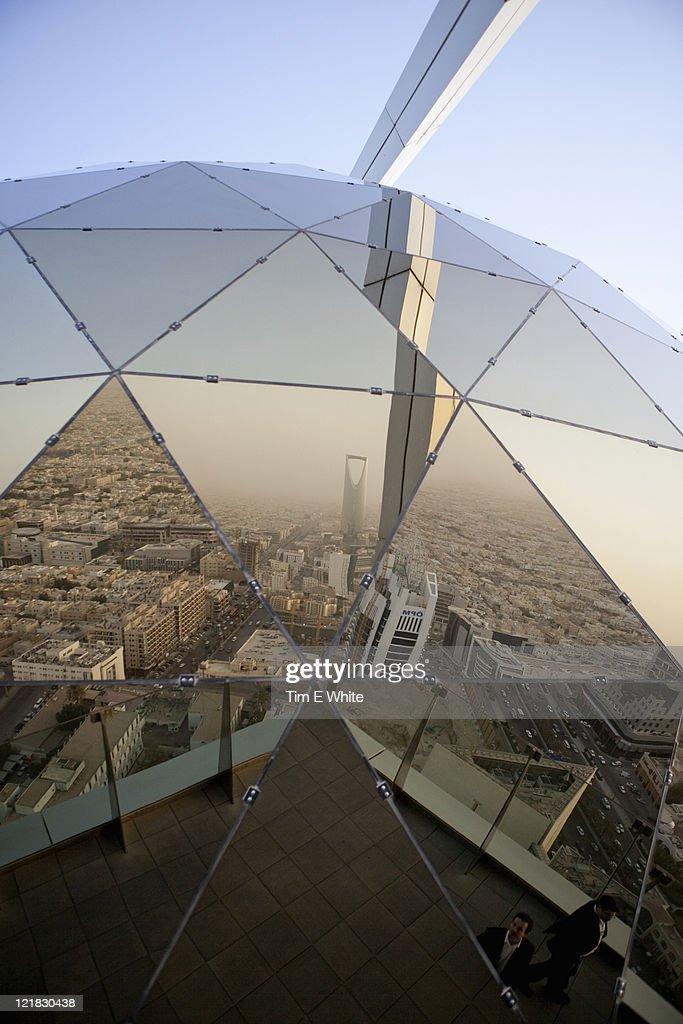 View from the Al-Faisaliah  (Globe) tower, Riyadh, Saudi Arabia