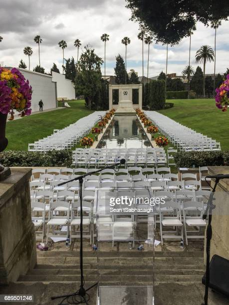 A view from the altar looking out at Chris Cornell's funeral services at Hollywood Forever on May 26 2017 in Hollywood California The grungerock icon...