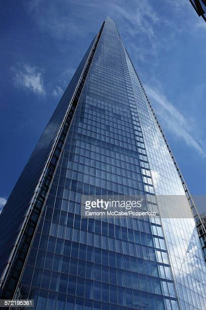 A view from the base of The Shard skyscraper in Southwark London United Kingdom 16th October 2013