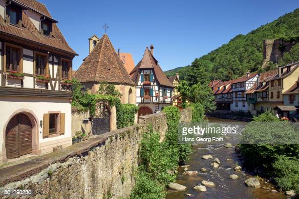 View from the bridge of the Rue du Géneral de Gaulle over the river Weiss