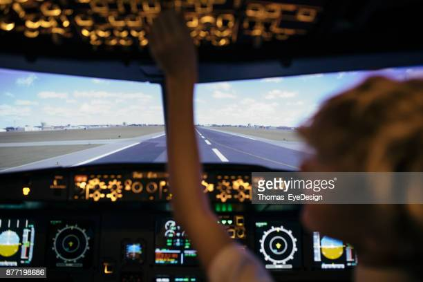 View From The Cockpit In Flight Simulator
