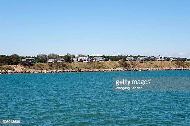 View from the ferry of Vineyard Haven on Marthas Vineyard Massachusetts USA