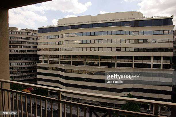 A view from the former Howard Johnson Premier Hotel room No 723 across the street to the Watergate Hotel office building where accomplices of the...