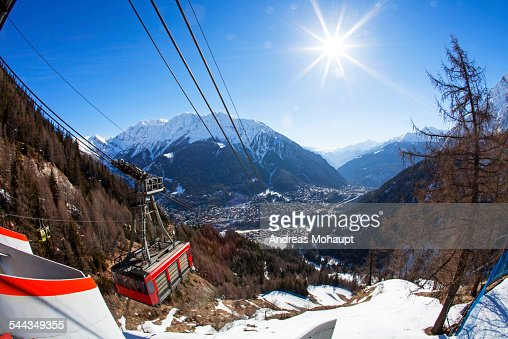 View from the gondola station to the valley