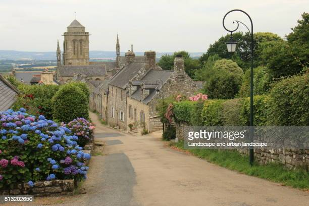 View from the hill of Locronan a small town in west Brittany
