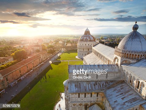 View from the leaning tower of Pisa
