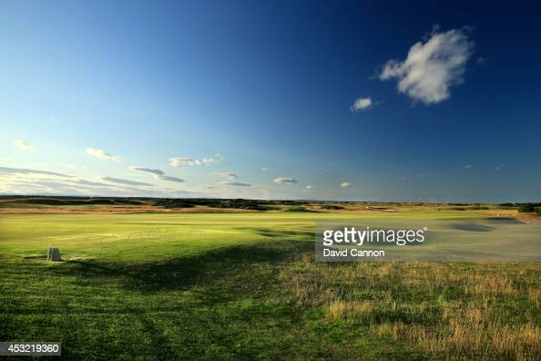 A view from the left side rough on the approach to the green on the par 4 10th hole on the Old Course at St Andrews venue for The Open Championship...